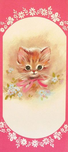 Vintage Kitten Get Well Greeting Card 1960s by hmdavid, via Flickr