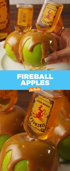 Fireball Whisky fans ... these boozy apples have your name written all over them. Get the recipe from Delish.com.