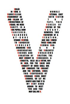 V for Vendetta - alliteration at an absolute apex of aptitude (for @Zachary Winterton + those who love v)