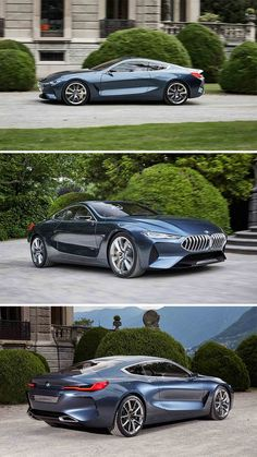 BMW let us have a taste of what's to come on a stretch of gravel lane leading to Villa Erba shortly after the 8 Series Concept was unveiled at the 2017 Concorso d'Eleganza Villa d'Este - car Bmw M5, Suv Bmw, Bmw Cars, New Sports Cars, Sport Cars, Concept Bmw, Rs6 Audi, Carros Bmw, Porsche 918 Spyder