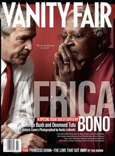George Bush and Cardinal Desmond Tutu Vanity Fair July 2007 cover.  Photography by Annie Leibovitz.