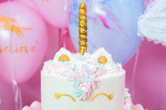 "Unicorn cake from a ""Unicorns are Real"" Birthday Party on Kara's Party Ideas | KarasPartyIdeas.com (24)"