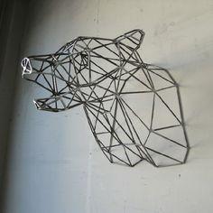 Bear Head Sculpture