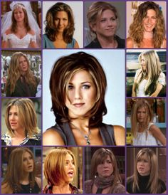 "Evolution of ""the Rachel"" from pre-iconic style to the final episode. #Friends #RachelGreen #JenniferAniston"