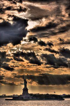 Beautiful View of Liberty Statue, New York