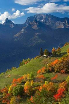 Autumn colours at Iserables above the Rhone Valley.
