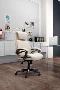 This attractive executive chair will give your office a contemporary new look. It is upholstered with breathable Caressoft Plus vinyl fabric in black or white. It is also decorated with chrome arms with padded arm rests and a high crown chrome base. Other features include a 2 paddle spring tilt mechanism with infinite lock, gas lift seat height adjustment, and adjustable tilt tension control.  For more Visit: http://sd-office.com/i-7190301-boss-caressoftplus-executive-series.html