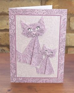 Origami cats lilac by: sandie
