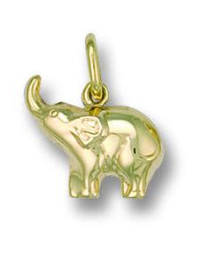 OphirJewellery - 9ct Yellow Gold Baby Elephant Charm / Pendant, £24.49 (http://www.ophirjewellery.co.uk/9ct-yellow-gold-baby-elephant-charm-pendant/)