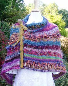 Dreamy Poncho Knitting Pattern. Detailed pattern por jenpedwards