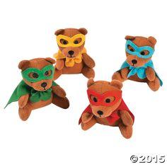 Plush Superhero Bears - OrientalTrading.com