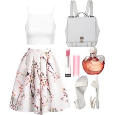 Pretty in Spring by chloe-simpson99 on Polyvore featuring polyvore, fashion, style, Topshop, Old Navy, Proenza Schouler, Nina Ricci and Revlon