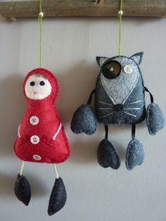 Mobile petit chaperon rouge et loup : Chambre d'enfant, de bébé par Rosytarte