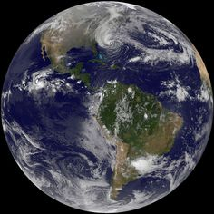Sandy desde el satélite GOES-13