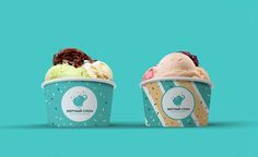 Mint Elephant brand identity.  #logo #logotype #logomachine #branding #brandidentity #icecream #elephant #design #logoinspiration