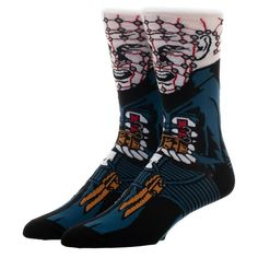 This is a Pinhead Character Collection 1 Pair Of Crew Socks that are produced by Bioworld. A great pattern and a great pair of socks for any horror fan. Recommended Ages: Condition: Brand New Sock Size: Halloween Iii, Halloween Movies, The Shining Twins, American Werewolf In London, Comfy Socks, Horror Movie Characters, Harley Quinn Cosplay, Colorful Socks, Character Costumes