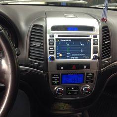 màn hình dvd theo xe hyundai santafer 2007-2012đầu dvd cho xe hyundai santafer 2007-2012