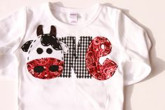 Barnyard birthday shirt, one, cow, 1st, t shirt, barnyard, farm theme, boy white on Etsy, $24.99
