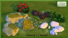 Stone recolors by Christine1000 at Sims Marktplatz via Sims 4 Updates