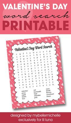 FREE Valentineu0027s Word Search Printable   Perfect For Class Parties Or At  Home With The Kids