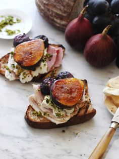 <Carte de Cuisine>ハムとフルーツのオープンサンド