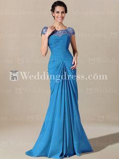 Elegant Chiffon Dress for Mother of the Bride. Re-pin if you like. Via Inweddingdress.com #motherofthebride #dress #wedding