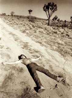 Keith Richards at Joshua Tree, 1969, photographed by Michael Cooper