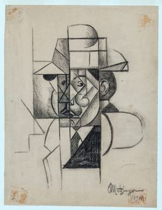 Jean Metzinger (French, 1883 - 1956) Portrait of Albert Gleizes, 1911 Drawing on paper, 20 x 15,5 cm