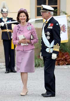 Queen Silvia and King Carl Gustaf of Sweden.