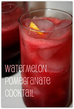 Watermelon Pomegranate Cocktail