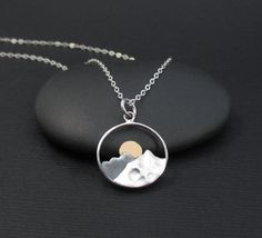 Hey, I found this really awesome Etsy listing at https://www.etsy.com/listing/454542654/mountain-range-necklace-sterling-silver