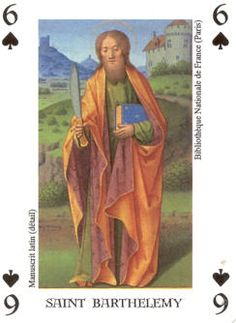 Bartolomeus  Apostel..Speelkaart.