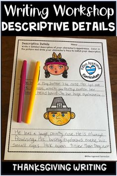 25 pages of Thanksgiving themed writing activities and prompts to keep your students engaged! Practice sensory language, opinion writing, narrative writing, conflict and resolution, and descriptive details throughout the entire month with fun Thanksgiving pages.  Click here to learn more #iteachfifth #thanksgivingwriting #thanksgivingactivities Descriptive Writing Activities, Teaching Narrative Writing, Opinion Writing, Writing Workshop, Holiday Writing, Thanksgiving Writing, Thanksgiving Activities, Sensory Language, Language Activities
