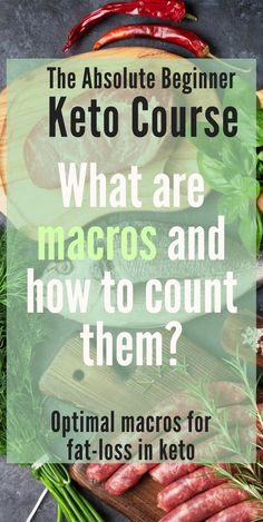 Learn all about counting macros and what are the optimal macros for ketosis and weight loss!