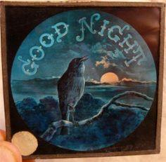 "Antique Magic Lantern Slide "" Good Night ""   eBay"