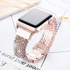 0bd05b317 For iWatch 1 2 3 Apple Watch 38mm Stainless Steel Band Strap for Women Rose  Gold