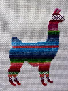 Lenny the Llama Cross Stitch Pattern by Simplistitch on Etsy
