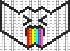 Puking Rainbow Mask Type 2 Bead Pattern