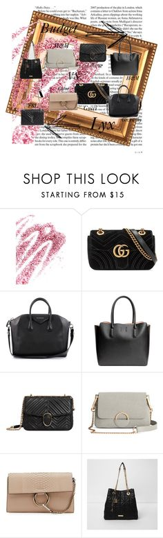 """""""Untitled #11"""" by kajsasjostrom on Polyvore featuring Obsessive Compulsive Cosmetics, Gucci, Givenchy, H&M, MANGO, Chloé, River Island and Yves Saint Laurent"""