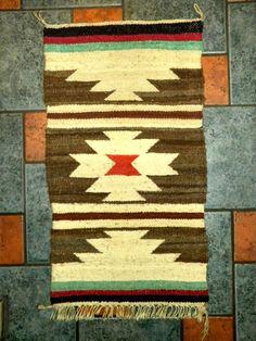 NavajoTextile/Rug 33 X 18 by YakShack on Etsy, $69.00