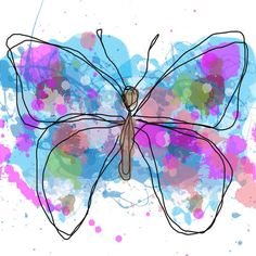 Butterfly 10.Giclee Print by Irena Orlov. 20 x 20 by irenaorlov