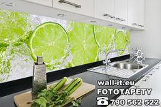 Fototapeta do kuchni. Orzeźwiający wzór z limonkami. Wodoodporna i zmywalna z atestem niepalności, dlatego może być naklejana nad kuchenką.  https://www.wall-it.eu/product/photowallpapers/panoramy/fototapeta-limonki-do-kuchni.jpg #fototapety #fototapeta #kuchnia #limonki #panel #owoce #mural #photowallpaper #wallpaper #photomural #mural #lime #kitchen #kuchnia #wallit #swidnica #producent #drukania #tapety