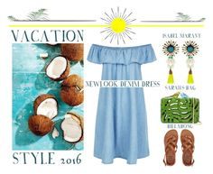 """""""Tropical Paradise - Vacation Style 2016"""" by latoyacl ❤ liked on Polyvore featuring Sarah's Bag, New Look, Billabong and Ethan Allen"""
