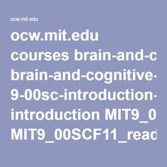 ocw.mit.edu courses brain-and-cognitive-sciences 9-00sc-introduction-to-psychology-fall-2011 introduction…