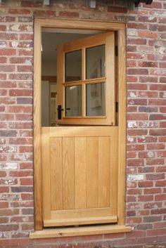oak stable door from oak windows and doors Cottage Front Doors, Oak Front Door, Back Doors, Cottage Windows, Entry Doors, Internal Doors Modern, Door Design, House Design, Rustic Home Design