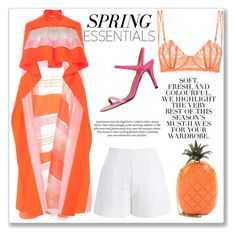 """""""Spring Look✌🏿"""" by pelicious ❤ liked on Polyvore featuring Delpozo, Chicwish, Valentino, Fendi, Folio and H&M"""