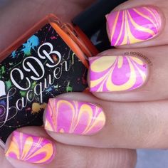 ~water marble nail art applique and creative water marble nail out design tutorial - Pesquisa Google
