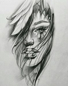 60 Ideas for womens face tattoo sketch girls – Tattoo Sketches & Tattoo Drawings Portrait Sketches, Tattoo Sketches, Tattoo Drawings, Body Art Tattoos, Art Sketches, Tatoos, Face Tattoos For Women, Sleeve Tattoos For Women, Girl Face Tattoo