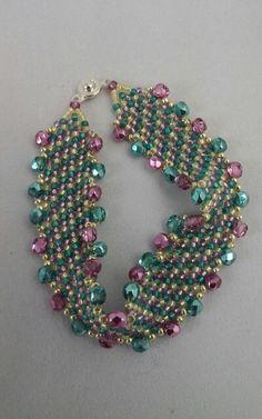 Herringbone Seed Bead Bracelet