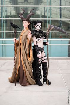Maleficent and Death - #SDCC Comic Con 2014 Day 3 #Cosplay (Erik Estrada)